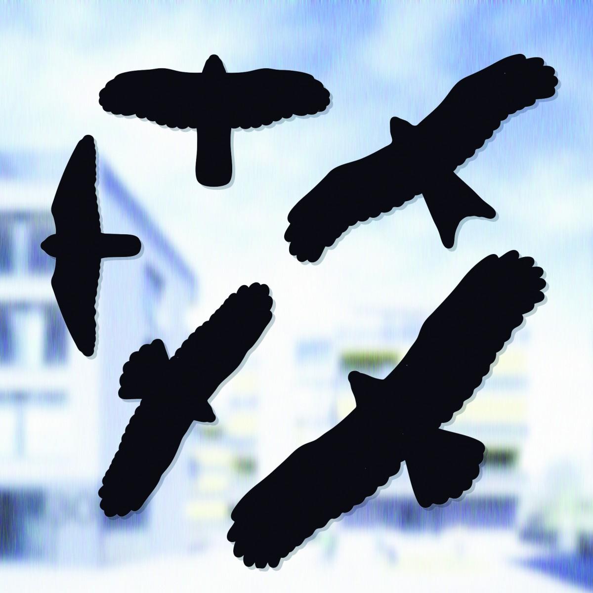 Putnu pretsaduršanās uzlīmes